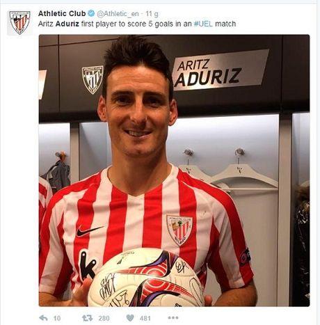 Cung 35 tuoi nhu Ibrahimovic, Aduriz cua Bilbao lai lap ky luc ghi 5 ban/tran - Anh 1