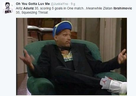 Cung 35 tuoi nhu Ibrahimovic, Aduriz cua Bilbao lai lap ky luc ghi 5 ban/tran - Anh 4