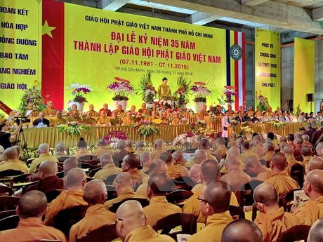 Dai le ky niem 35 nam thanh lap Giao hoi Phat giao Viet Nam tai TP.HCM - Anh 1