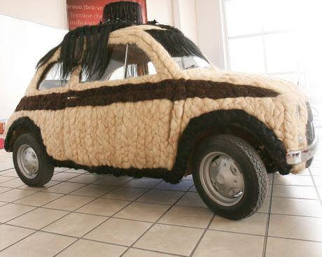Dung 100kg toc de trang diem cho o to Fiat 500 co - Anh 1