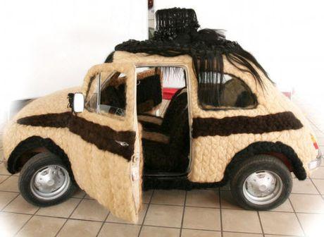 Dung 100kg toc de trang diem cho o to Fiat 500 co - Anh 7