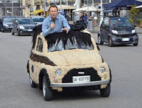 Dung 100kg toc de trang diem cho o to Fiat 500 co - Anh 9
