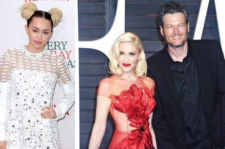 Blake Shelton va Gwen Stefani muon Miley Cyrus roi ghe nong The Voice My - Anh 1
