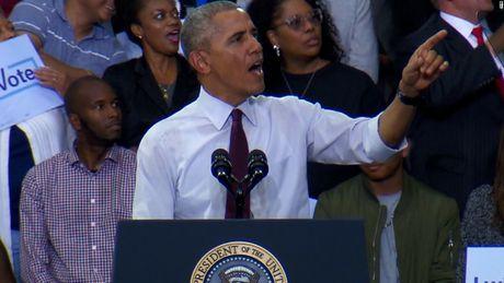 Bau cu My: Ong Obama phan doi cu tri cua ba Clinton, canh bao ong Trump sap thang - Anh 1