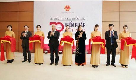 Khai truong Trien lam 70 nam Hien phap Viet Nam - Anh 1