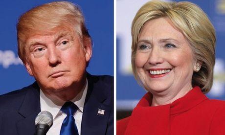 Ba Clinton dan truoc ong Trump trong hang loat khao sat - Anh 1