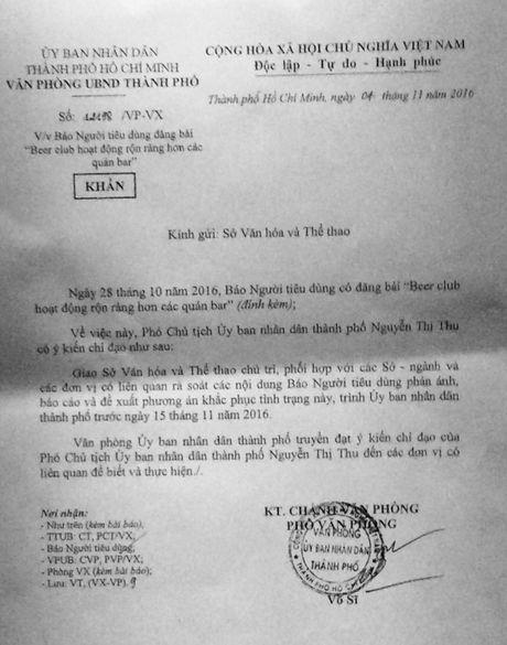 UBND TP.HCM chi dao kiem tra cac beer club theo phan anh cua Bao Nguoi Tieu Dung - Anh 1