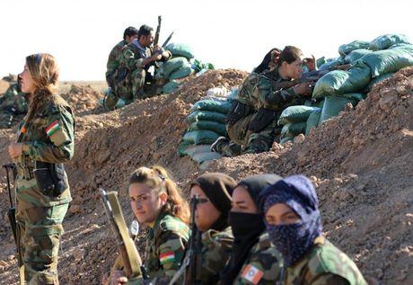 Ve dep nhung nu chien binh nguoi Kurd trong cuoc chien o Mosul - Anh 12