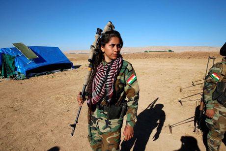 Ve dep nhung nu chien binh nguoi Kurd trong cuoc chien o Mosul - Anh 6