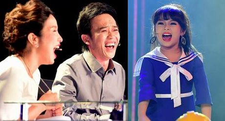 Hoai Linh, My Linh cuoi 'ngat' vi thi sinh nhi tai nang - Anh 1