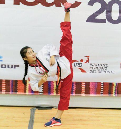 Co be taekwondo mang 2 dong mau Viet - An: Tru cot tuyen quoc gia tuong lai - Anh 1