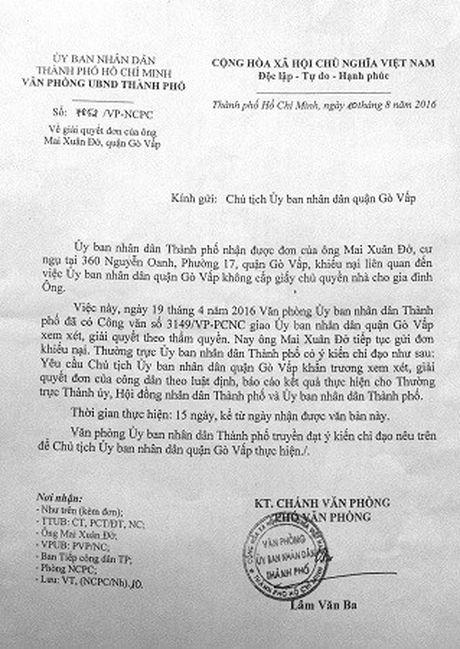 TP.HCM: Thuong binh 1/4 sao mai chua duoc cap Giay chu quyen nha - Anh 2