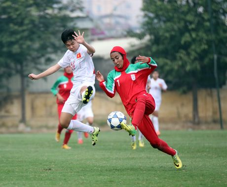 Danh bai U.19 Iran 2-0, U.19 nu Viet Nam gianh ve vao VCK U.19 Chau A - Anh 2