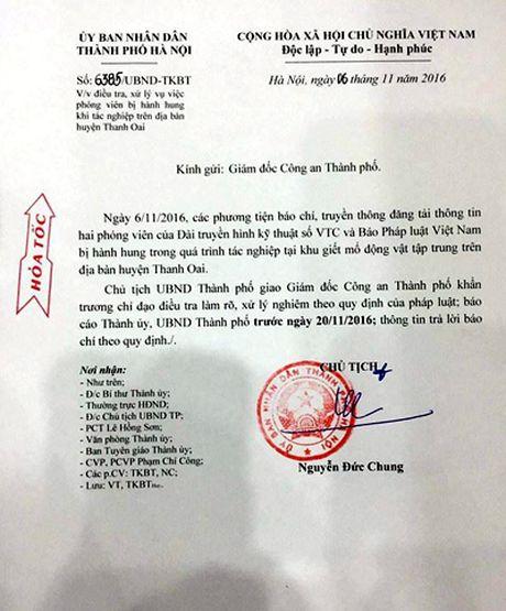 Chu tich Ha Noi yeu cau cong an xu ly nghiem vu phong vien bi hanh hung - Anh 1