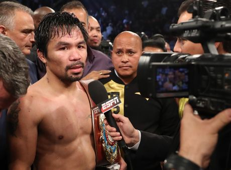 Manny Pacquiao thang diem Jessie Vargas, gianh dai WBO - Anh 8