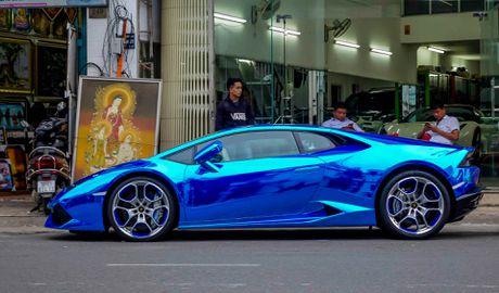 Sieu xe Lamborghini Huracan tren duong que Long An - Anh 10
