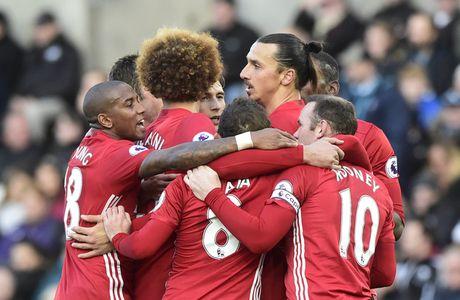 Swansea vs MU (0-3, H1): Ibrahimovic lap cu dup - Anh 1