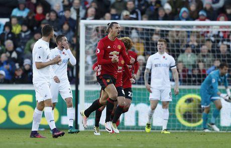 Swansea vs MU (0-3, H1): Ibrahimovic lap cu dup - Anh 4