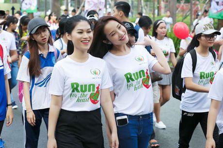 Ngoc Thanh Tam cung dan sao Viet xuong duong 'Chay vi trai tim' - Anh 2