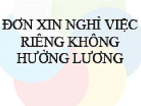 Khong duoc dong BHXH khi nghi khong luong - Anh 1