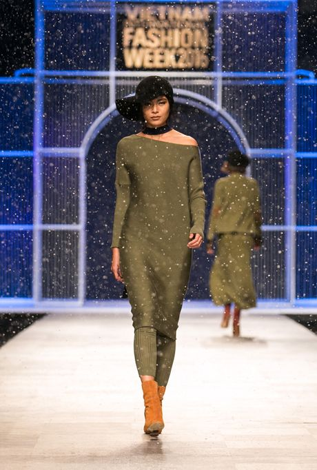 Nhung man trinh dien 'da mat' nhat o Vietnam International Fashion Week - Anh 7