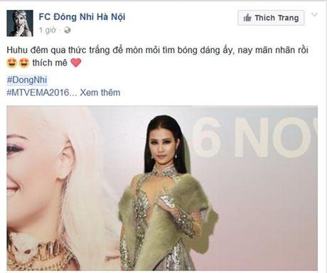 Sang tan Ha Lan, Dong Nhi khong duoc len san khau nhan giai EMA 2016 - Anh 1