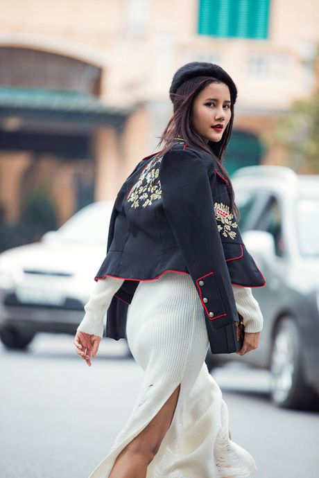 Hoang Thuy, Trang Khieu, Huong Ly can quyet street style cuoi tuan - Anh 8