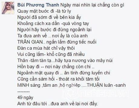 49 ngay mat Minh Thuan, Phuong Thanh tiet lo vi sao vang mat trong dam tang ban - Anh 4