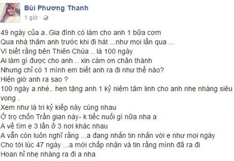 49 ngay mat Minh Thuan, Phuong Thanh tiet lo vi sao vang mat trong dam tang ban - Anh 5