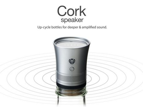 Bien chai thuy tinh thanh loa Bluetooth - Anh 1