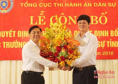 Nghe An bo nhiem Cuc truong Cuc Thi hanh an dan su - Anh 3