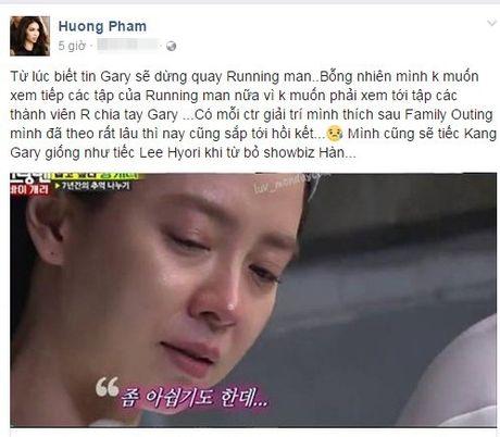 Bat ngo phat hien Pham Huong la 'fan ruot' Running man, 'khoc rong' noi loi tam biet Kang Gary - Anh 1