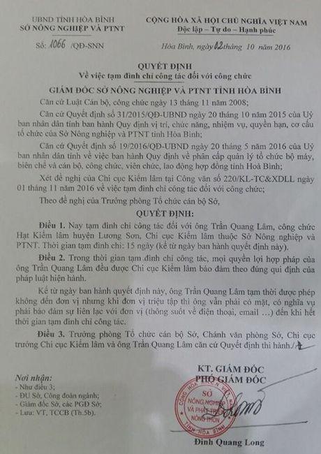 Dinh chi cong tac kiem lam danh nhan vien thu phi quoc lo 6 - Anh 1