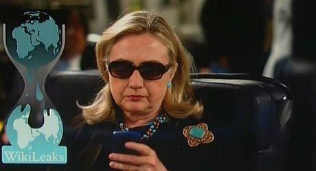 Clinton: Thang the Trump kho bu bom tan WikiLeaks - Anh 1
