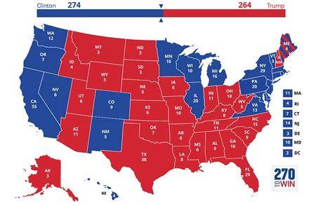 Ba Clinton se thang it nhat 274 phieu dai cu tri? - Anh 3