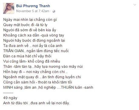 Phuong Thanh lan dau nhac den Minh Thuan sau khi mat - Anh 2