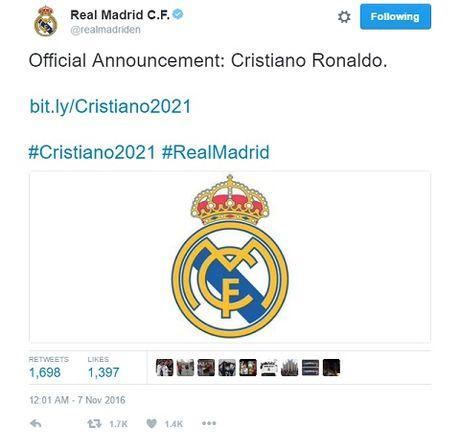 Ronaldo gia han hop dong voi Real toi nam 2021 - Anh 1