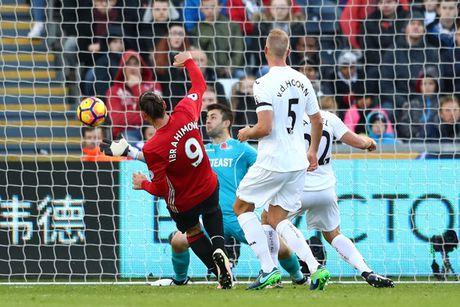 Chum anh: Mourinho lanh lung chung kien MU ha Swansea tren khan dai - Anh 10