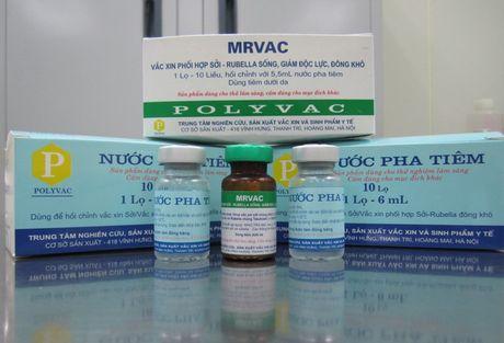 Viet Nam san xuat thanh cong vacxin phoi hop soi-rubella - Anh 1