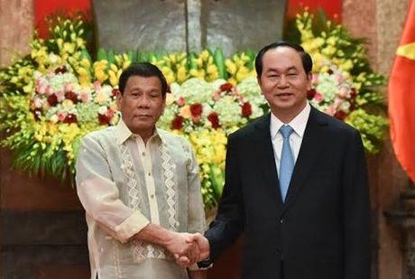 Chu tich nuoc Tran Dai Quang gui thu cam on Tong thong Philippines - Anh 1