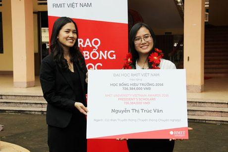 Mot sinh vien nhan hoc bong Dai hoc RMIT Viet Nam hon 700 trieu dong - Anh 1