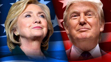 Bau cu My: Ong Trump bat ngo dan truoc ba Clinton - Anh 1