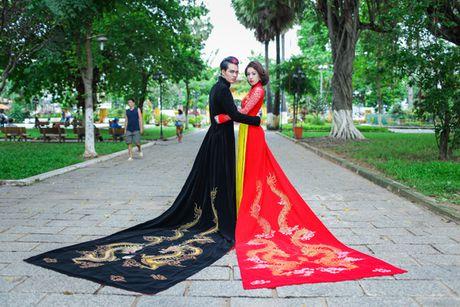 Miss Ngoc Tran khoe sac rang ngoi voi thiet ke cua Minh Hung - Anh 4