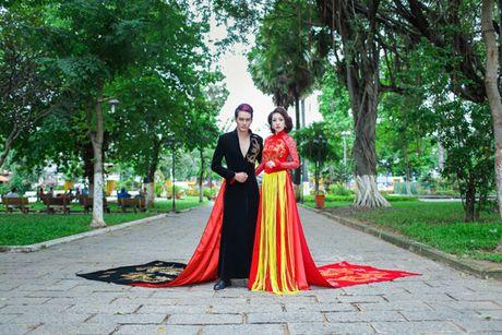Miss Ngoc Tran khoe sac rang ngoi voi thiet ke cua Minh Hung - Anh 5