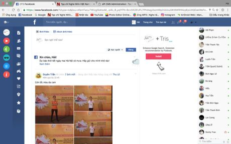 Cach thay giao dien phang cuc dep cho Facebook - Anh 1