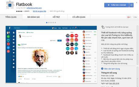 Cach thay giao dien phang cuc dep cho Facebook - Anh 2