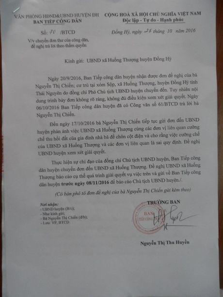Thai Nguyen: UBND huyen Dong Hy se giai quyet don dung phap luat - Anh 1