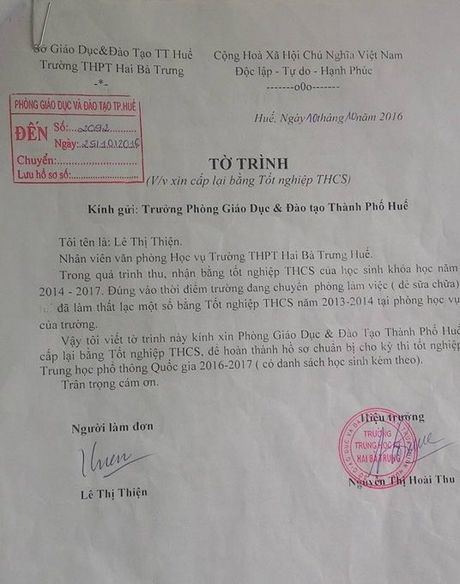 Nha truong lam mat 41 bang tot nghiep cua hoc sinh - Anh 1