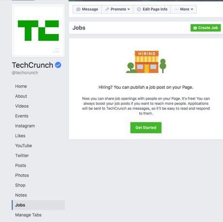 Facebook gioi thieu tinh nang viec lam, canh tranh LinkedIn - Anh 2