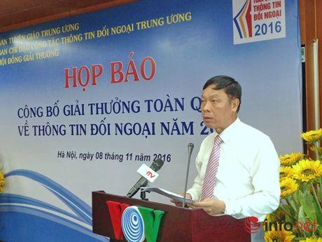 Giai thuong toan quoc ve thong tin doi ngoai nam 2016 co them linh vuc sach - Anh 1
